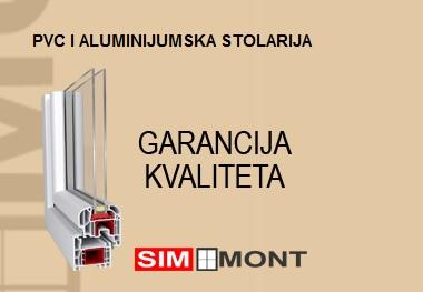 SIM-MONT Brzo i kvalitetno postavljanje nove PVC i ALU stolarije