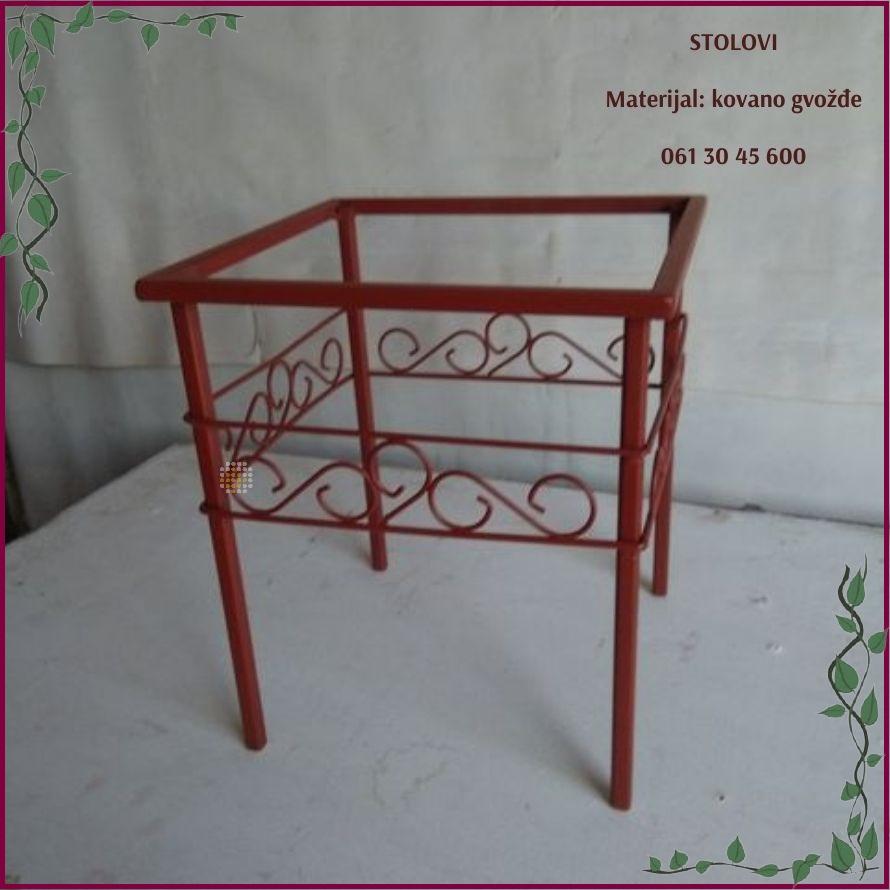 stolovi od kovanog gvozdja