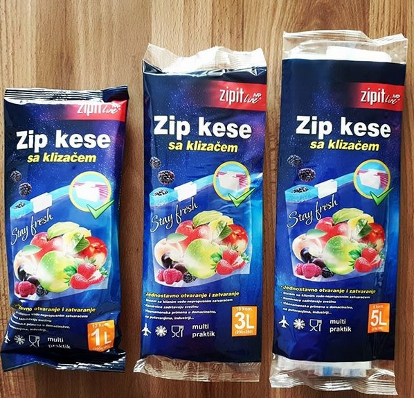 Zip kese 1l, 3l, 5l, i male